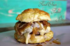 French Onion Fontina Burger #dixiechikcooks