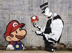 #streetArt mariobros mushroom