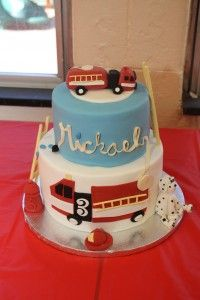 fire truck birthday cake -- with hydrant! Cupcakes, Cupcake Cakes, Truck Birthday Cakes, 2nd Birthday, Fire Fighter Cake, Cute Birthday Ideas, Firefighter Birthday, Funny Cake, Cake Blog