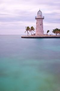Farol no Parque Nacional da baía de Biscayne, Florida, EUA !!!