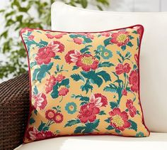 Indoor/Outdoor Pillow by Pottery Barn, end of season sale, $20.