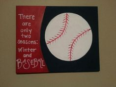 Baseball canvas- can do any sport on Etsy, $14.00