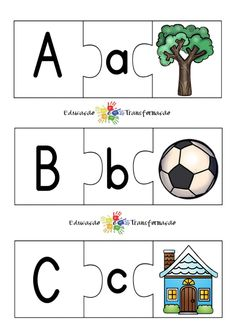 Blog Educação e Transformação: 👍 Alfabeto: quebra-cabeça Alphabet, Fictional Characters, Blog, Alphabet Games, Cursive Alphabet, Literacy Activities, School, Objects, Alpha Bet