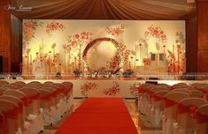 Photo By Fort Events - Decor You are in the right place about wedding decorations indonesia Here we offer you the most beautiful pictures about the wedding decorations sunflowers you are looking for. Reception Stage Decor, Wedding Reception Backdrop, Wedding Mandap, Event Decor, Desi Wedding, Wedding Rehearsal, Marriage Hall Decoration, Engagement Stage Decoration, Wedding Hall Decorations