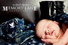 Military theme newborn session
