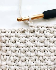 "Yarnspirations on Instagram: ""Have you tried the crochet linen stitch?  Bernat Maker Home Dec yarn gives it incredible stitch definition, as seen in this tutorial by…"""