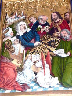 The Athenaeum - St.Jakob Hochaltar Marientod (The Death of the Virgin) (Friedrich Herlin - )