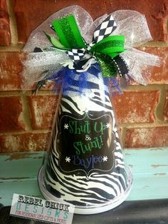 Personalized Cheer Megaphone Rebel Chick Designs   #Cheer Gift #Cheer Banquet # Cheer Competition