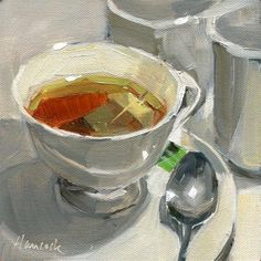 """Cup of Tea"" - Original Fine Art- Gretchen Hancock."