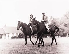 US first lady Jacqueline Kennedy and Pakistani President Mohammad Ayub Khan are shown horseback riding at Glen Ore, the Kennedy country estate in Middleburg, Virginia. The picture was taken on September 25, 1962. Mrs Kennedy is riding Sardar, the horse Ayub Khan gave her when she was on her visit to Pakistan in March that year.