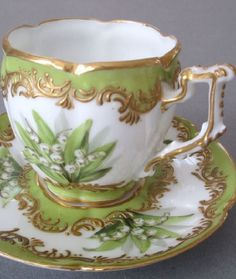 Fine 19thC HP French OLD PARIS Porcelain Cup
