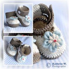 DIY-Häkeln: Baby-Schuhe // Baby-Ballerinas
