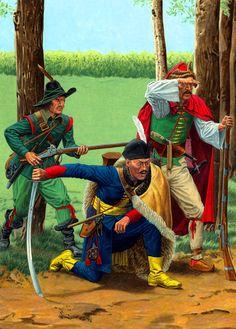 Hungarian Hayduk and Croat Rifleman of the Thirty Years' War