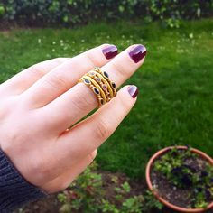 """Delicate """"Love"""" rings are pure magic #likabeharcollection #likabehar #love #ring #24k #22k #gold"""