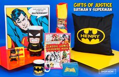 Gifts and Gift Ideas for Everyone! Find the perfect present for him or her for any special occasion. Cool gifts from Prezzybox with fast UK delivery! Superman, Batman, Superhero Gifts, Superhero Characters, Presents For Him, Classic Comics, For Everyone, Cool Gifts, Your Favorite