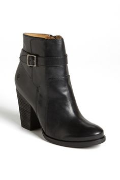 Frye 'Patty' leather riding booties in black