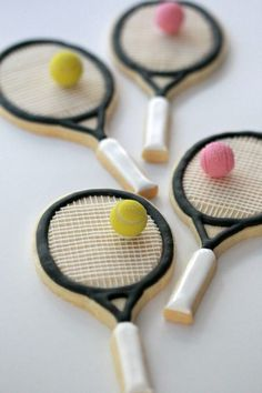 How to Decorate Tennis Racket Cookies | Sweetopia