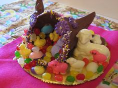 Easter Cornucopia made by my mom!