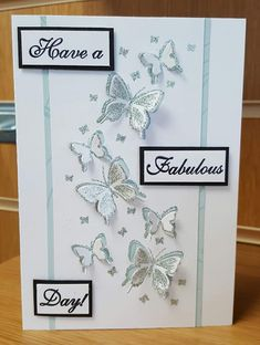 Todays card is the second from my class with new stamps and dies from Chloe. Birthday Cards For Women, Handmade Birthday Cards, Chloes Creative Cards, Stamps By Chloe, Flower Birthday Cards, Crafters Companion Cards, Elizabeth Craft, Embossed Cards, Butterfly Cards