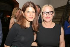 Marisa Tomei and Patricia Arquette at a Dinner for Equality event hosted by Arquette, whose plea for equal pay and equal rights for women during her 2015 Best Actress acceptance speech has lots her acting jobs -- and propelled the California Fair Pay Act, which went into effect January 2016.  Gender in Media