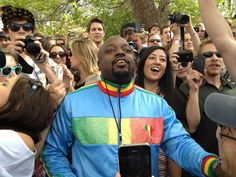 Man rumored to be Wyclef Jean's brother joined the 4/20 festivities around 4:20 p.m. (Photo credit: @Meagan9News ) #cu420
