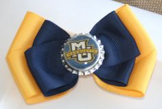 Marquette University Golden Eagles Navy and Yellow by bowsforme, $5.99