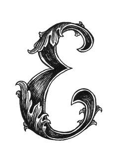 313 Best The Letter E Images Drop Cap Letter E Hand Type
