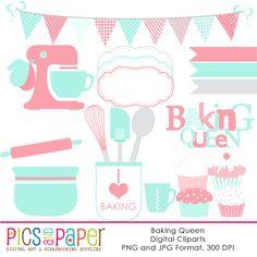 The Baking Queen clipart set