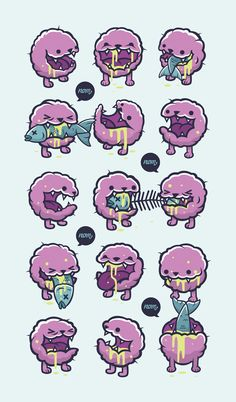 Creepy Cute - The Exhibition by Cohen Gum, via Behance