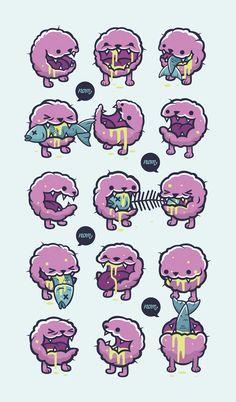 Creepy Cute - The Exhibition by Cohen Gum, via Behance