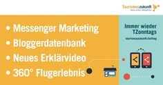 Immer wieder #TZonntags, 3.4.2016: Messenger Marketing | 360°Flugerlebnis | Erklärvideo Onlinemarketing & Recht | Bloggerdatenbank Internet Trends, Augmented Reality, Virtual Reality, Pokemon Go, 360 Grad Foto, Think Tank, Dubai, Whatsapp Marketing, Facebook Search
