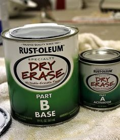 No way!  Dry Erase PAINT!!!   Oh my- that's waaaay better than chalkboard paint.