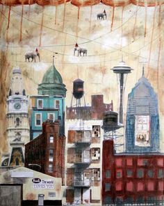 LAST ONE, Store Closing Sale,  Fine Art Print - Cloud Gatherers Over the City (That Day)