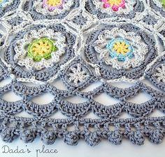 Dada's place: Secret Garden Shawl Free Crochet Tutorial