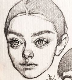 Girl Hair Drawing, Cute Girl Drawing, Cute Drawings, Anatomy Reference, Drawing Reference, Pencil Sketch Drawing, Face Study, Step By Step Drawing, Drawing Techniques