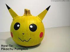 pokemon pumpkin - pikachu!!