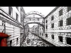 Learn How to Draw using Perspective in this narrated pencil drawing for … – Art Drawing Tips Linear Perspective Drawing, 1 Point Perspective Drawing, Perspective Pictures, Perspective Art, Drawing Themes, Drawing Tips, 7th Grade Art, City Drawing, Labyrinth