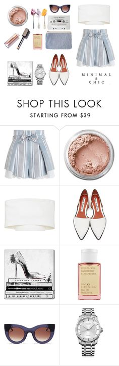 """""""Untitled #107"""" by pakapaka ❤ liked on Polyvore featuring Zimmermann, Bare Escentuals, Rosetta Getty, Acne Studios, Oliver Gal Artist Co., Korres, Thierry Lasry, Calvin Klein and summersandals"""