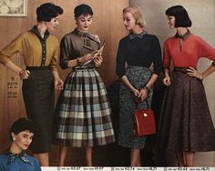 #1950s young fashions for #Therese Belivet and girls in NYC