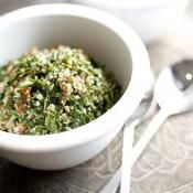 TURKISH TABBOULEH:  A traditional Turkish dish that is a mix of herbs and vegetables  #TurkishRecipe