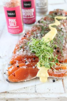NoMU recipes: Smoked salt and peppercorn cured trout with hollandaise Main Course Dishes, Salt Box, Hollandaise Sauce, Food Obsession, Starters, Seafood, The Cure, Smoked Trout, Appetizers