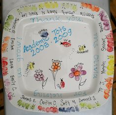 A preschool fingerprint platter by Of Mine, via Flickr