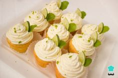 Margarita Cupcakes topped with Creamy Key Lime Frosting.