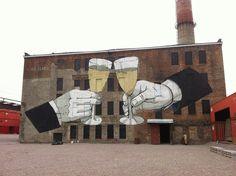 by Escif - New mural - St. Petersburg, Russia - 19.09.2014