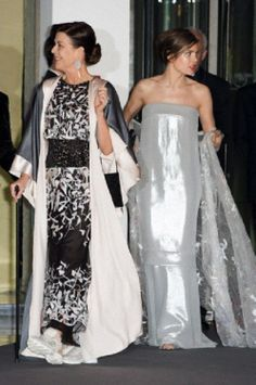 Princess Caroline of Hanover and Charlotte Casiraghi attend the Rose Ball at Sporting Monte-Carlo on 29.03.14 in Monte-Carlo, Monaco.