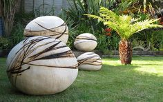 Garden sculptures (Adrienne McStay), Pittenweem Arts Festival by Niall Corbet, via Flickr