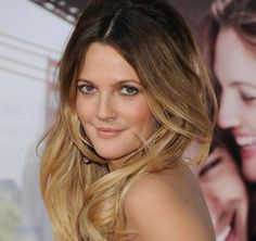 Ombre hair on Drew Barrymore. Image credit: liveandletdyehair.com