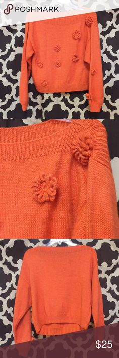 Vintage sweater Orange vintage cropped  sweater Sweaters