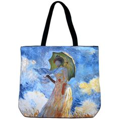 WOMAN with PARASOL Claude MONET Fine Art Bag Purse Messenger Tote S or L New PN #PN #Tote