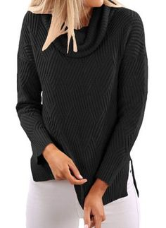 Latest fashion trends in women's Sweaters. Shop online for fashionable ladies' Sweaters at Floryday - your favourite high street store. Pizza Bites, Latest Fashion Trends, Zucchini, Cloths, Sweaters For Women, Neckline, Turtle Neck, Pullover, Lady